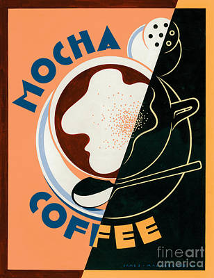 Mocha Coffee Poster by Brian James