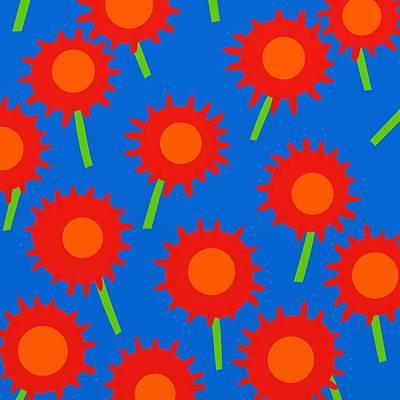 Mod Spiky Flowers Poster by Marlene Kaltschmitt