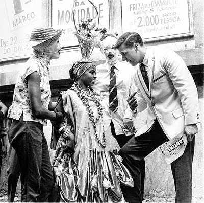 Model At A Carnival Poster