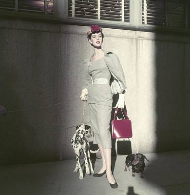 Model Barbara Mullen Wearing Suit By Herbert Poster
