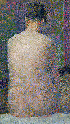 Model From The Back Poster by Georges Pierre Seurat