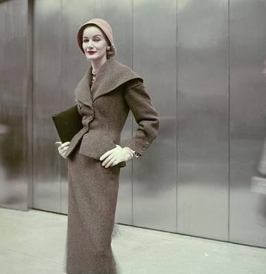 Model In A Suit By Dan Millstein Poster