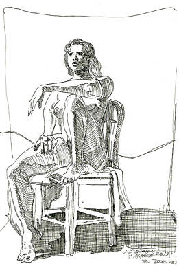 Model In Chair Poster