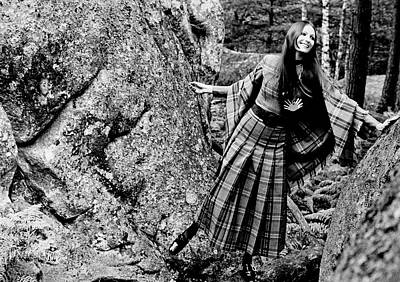 Model In The Woods Wearing A Dress Poster