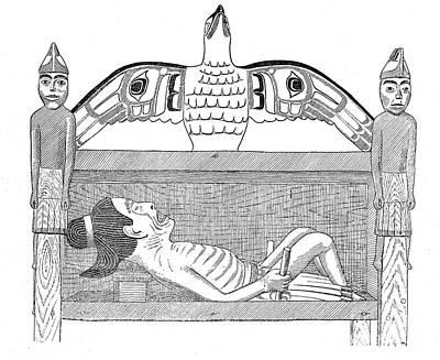 Model Of Haida Shamans Gravehouse Poster