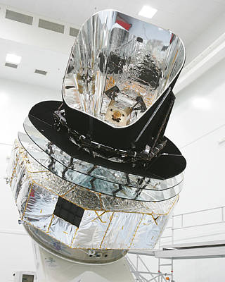 Model Of Planck Space Observatory Poster by Science Source