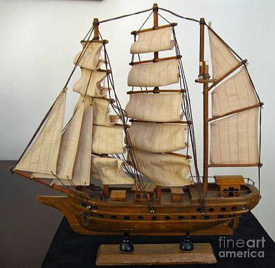 Model Sailing Ship Poster