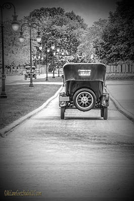 Model T Ford Down The Road Poster