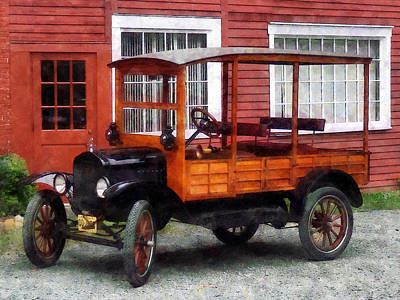 Model T Station Wagon Poster by Susan Savad