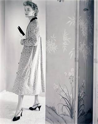Model Wearing A Loomtogs Coat Poster by Horst P. Horst