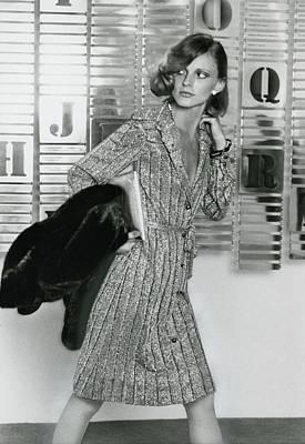 Model Wearing A Mario Forte Shirtdress Poster