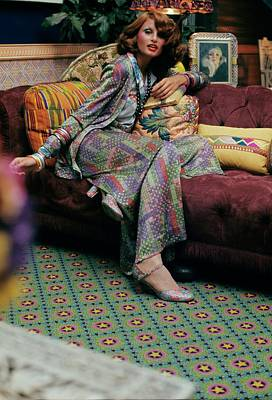 Model Wearing A Missoni Suit Poster