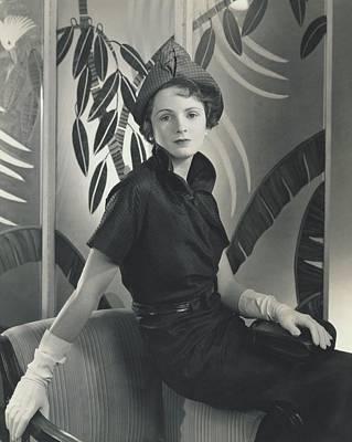 Model Wearing A Silk Taffeta Dress Poster