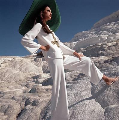Model Wearing Ellen Brooke For Sportswear Couture Poster