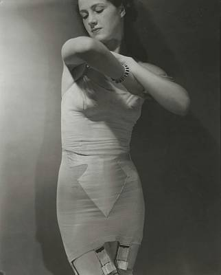 Model Wearing Girdle Poster