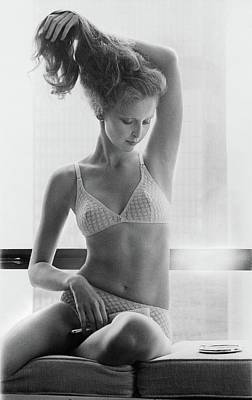 Model Wearing Kayser-roth Underwear Poster