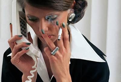 Model Wearing Revlon Nail Polish Poster
