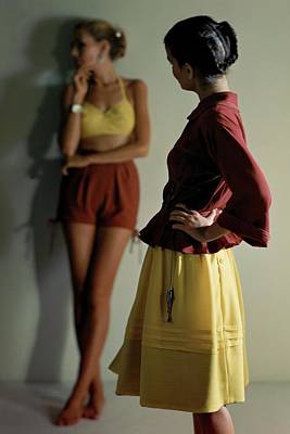 Models Wearing Carolyn Schnurer Poster