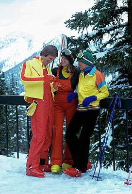 Models Wearing Ski Clothes Poster by William Connors