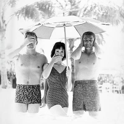 Models Wearing Swimwear Poster by Richard Waite