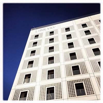 Modern Architecture City Library Stuttgart Poster