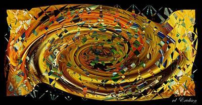 Poster featuring the digital art Modern Art II by rd Erickson