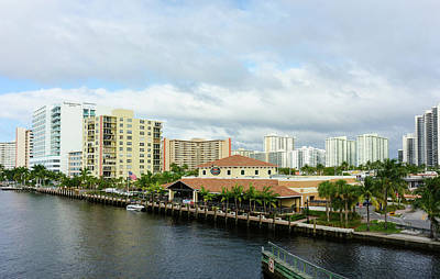Modern Buildings On The Intracoastal Poster