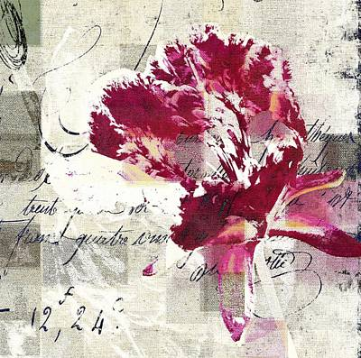 Modern Floral - 072083158 -f222a Poster by Variance Collections