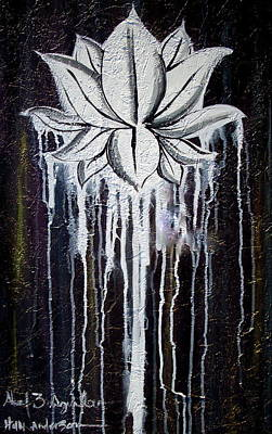 Modern Lotus Flower Painting Poster
