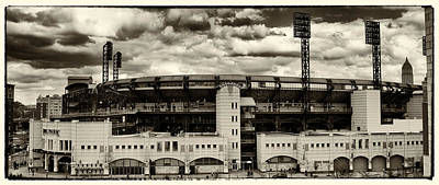 Modern Retro Pnc Park Exterior Poster by Gary Cain