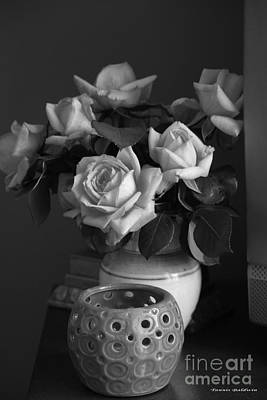 Poster featuring the photograph Modern Still Life Bw by Tannis  Baldwin
