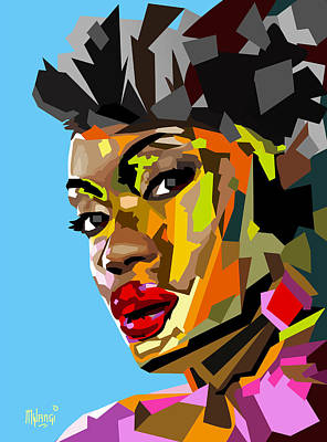 Poster featuring the digital art Modern Woman by Anthony Mwangi