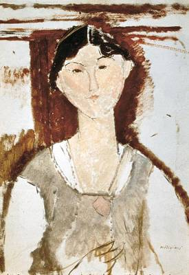 Modigliani, Amedeo 1884-1920. Study Poster