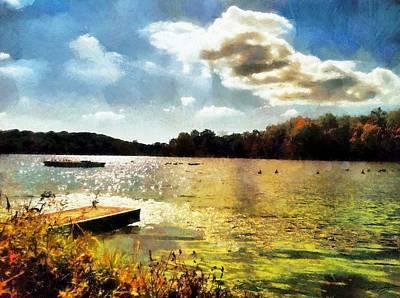 Mohegan Lake Gold Poster by Derek Gedney