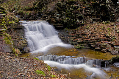 Mohican Falls In Spring Poster by Shelly Gunderson
