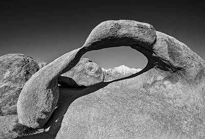 Moibus Arch At The Alabama Hills Poster