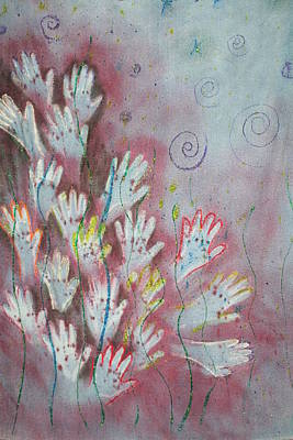 Poster featuring the mixed media Mojo Praise by Carrie Maurer