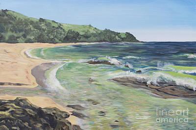 Moloaa Bay In Kauai Poster by Jordan Parker