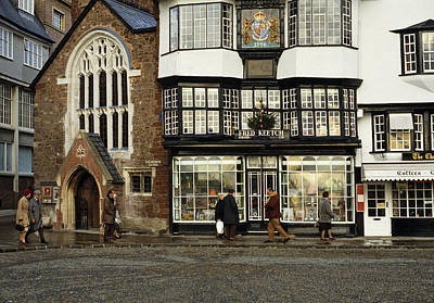Mols Coffee House From 1596 Cathedral Close Exeter Uk 1980s Poster by David Davies