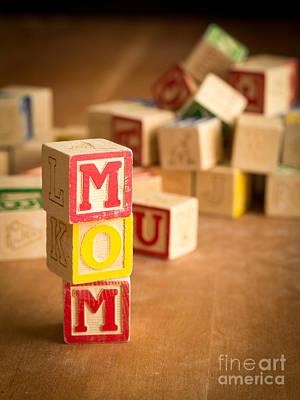 Mom Alphabet Blocks Poster by Edward Fielding