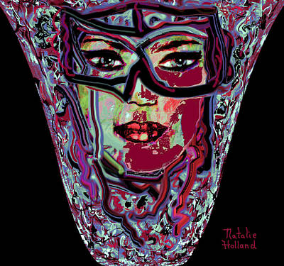 Mom's Venetian Glass Vase 3 Poster by Natalie Holland