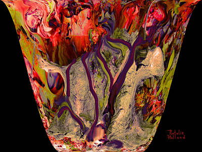 Mom's Venetian Glass Vase 4 Poster