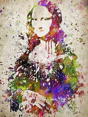 Mona Lisa In Color Poster by Aged Pixel