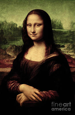 Poster featuring the painting Mona Lisa Painting by Leonardo da Vinci