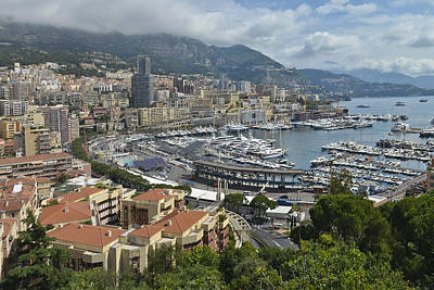 Poster featuring the photograph Monaco Harbor by Allen Sheffield