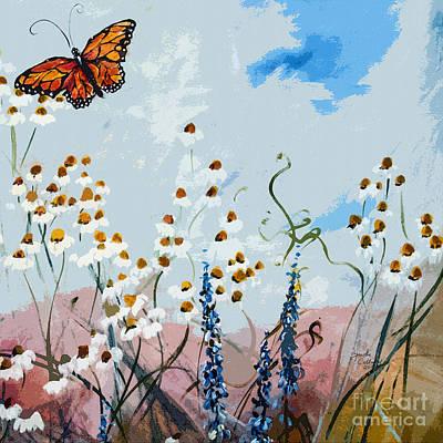 Monarch Butterfly Modern Art Poster by Ginette Callaway
