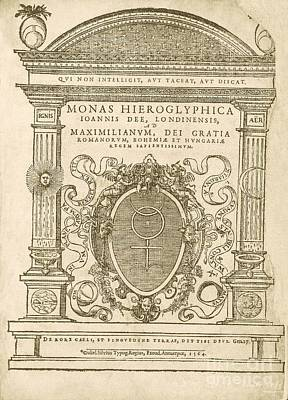Monas Hieroglyphica (1564) Poster by Library Of Congress