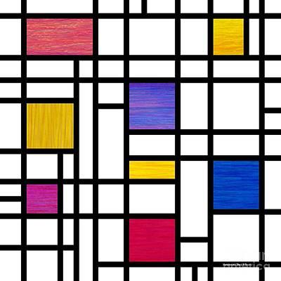 Mondrianish Poster by David K Small