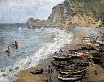 Monet, Claude 1840-1926. Etretat, Beach Poster by Everett