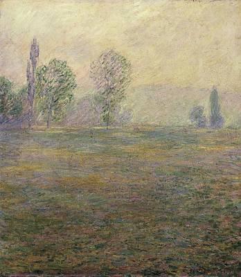 Monet, Claude 1840-1926. Meadows Poster